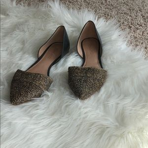 Madewell two tone dorsay flats size 8